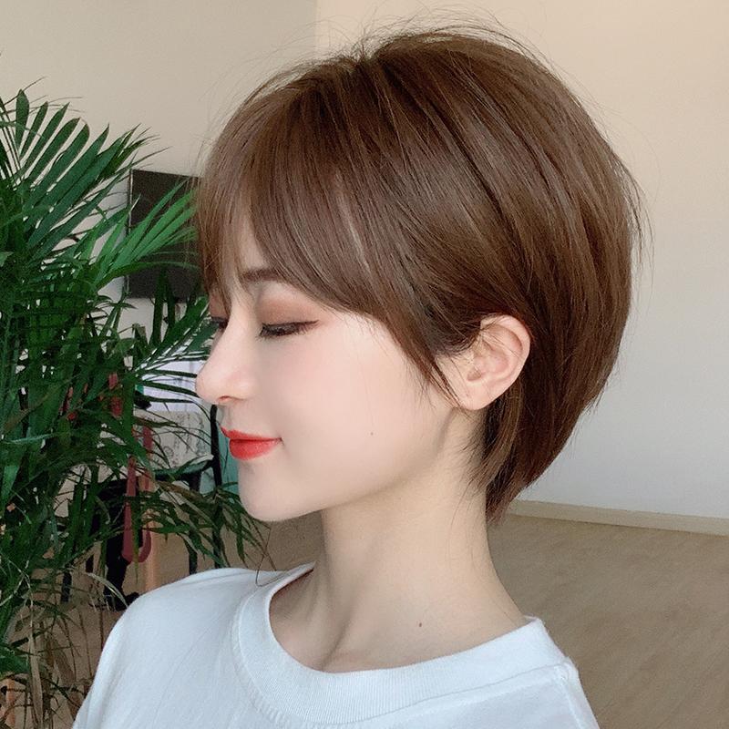 假发女短发圆脸bobo头 齐耳帅气中性头套式波波头 韩国时尚假短发