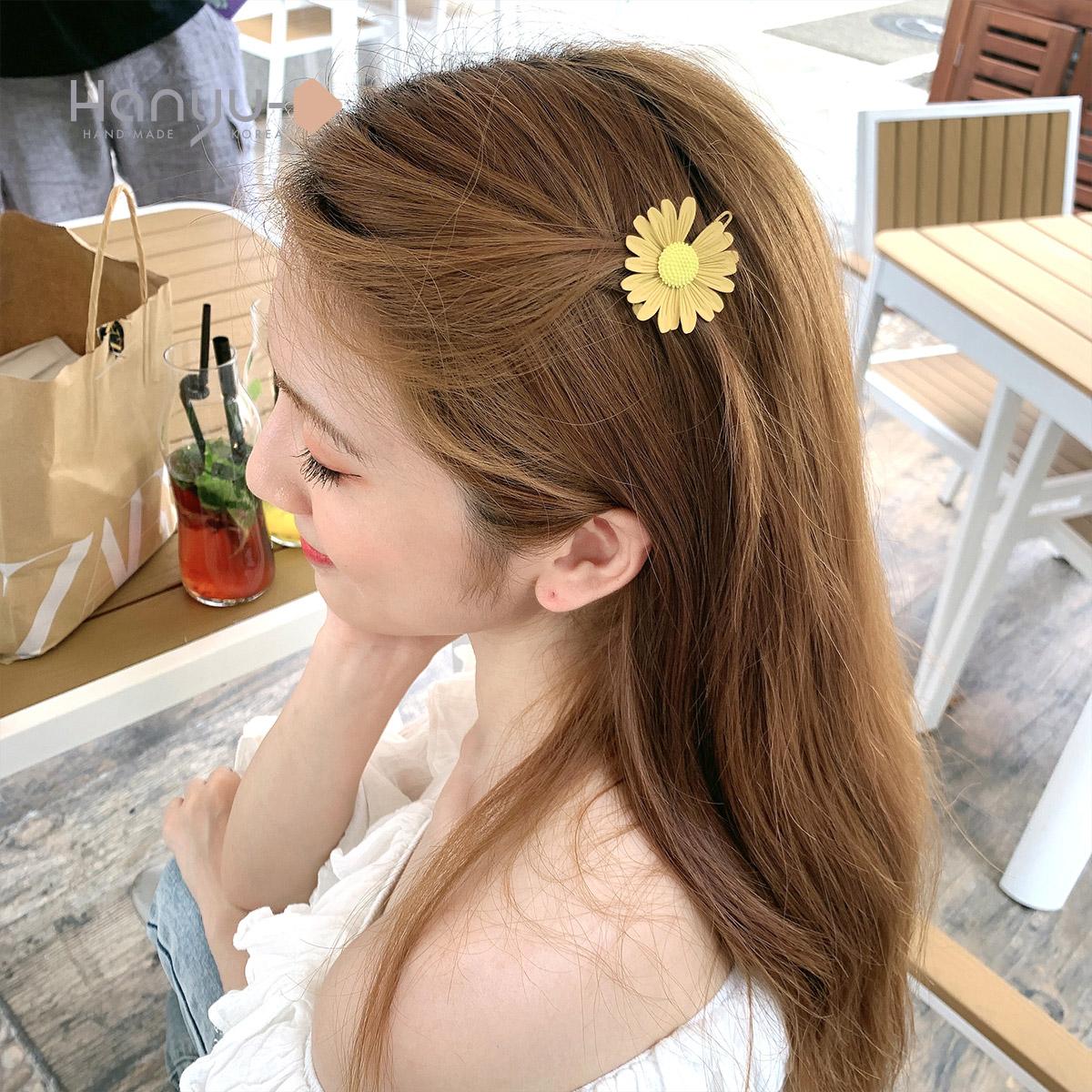 小雏菊发夹边夹少女顶夹刘海卡固定网红卡子女侧边夹发卡短发神器