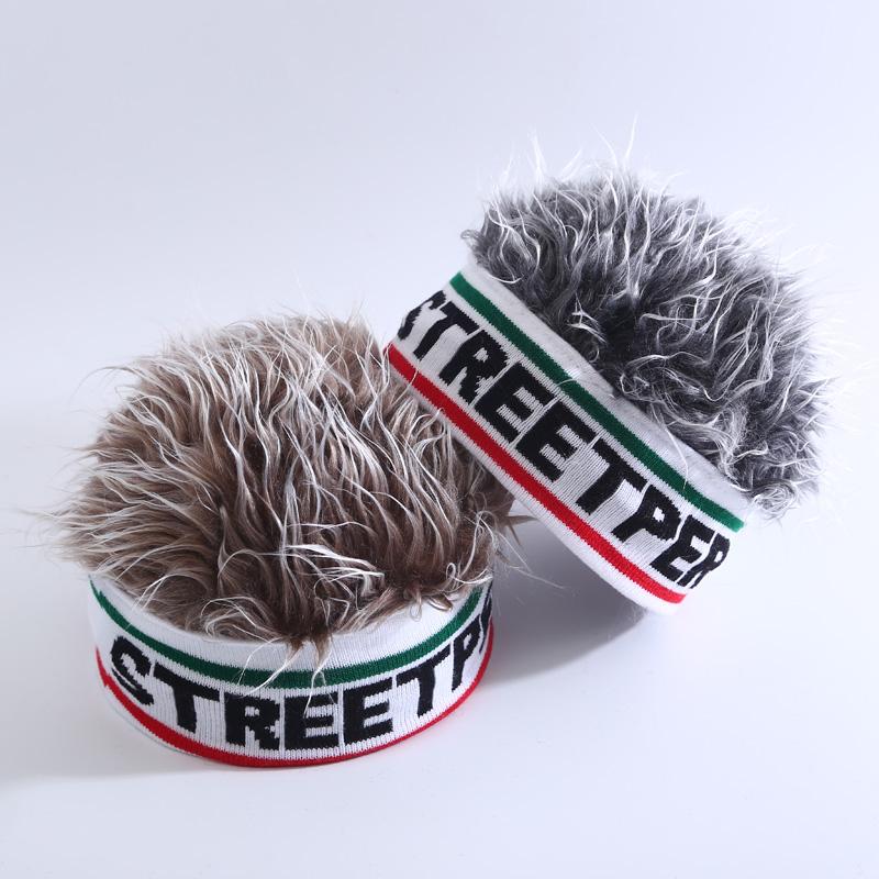 网红短发帽子一体假发帽子迷彩流氓帽男ins街头嘻哈潮流鸭舌帽女