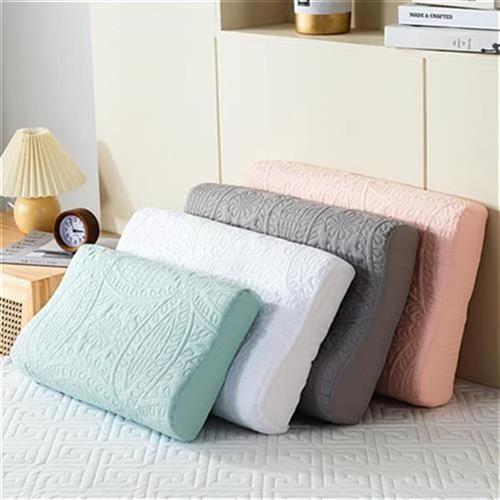 乳胶枕4防止枕芯发黄记忆枕头套60x套0成人5L0X30巾水全棉枕防一