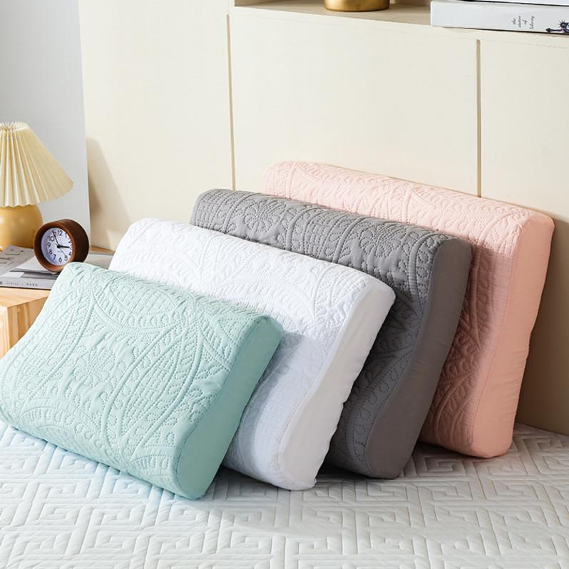 乳胶枕套防止枕芯发黄记忆枕头套60x40成人50X30防水全棉枕巾一。