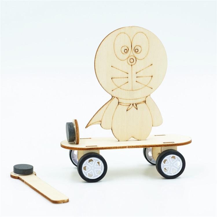 diy科技小制作小发明一年级磁力小车小学生磁铁拼装科学实验玩具
