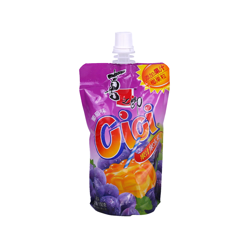 喜之郎CiCi果汁果冻爽(葡萄味)150克/支饮料儿童零食布丁水果冻