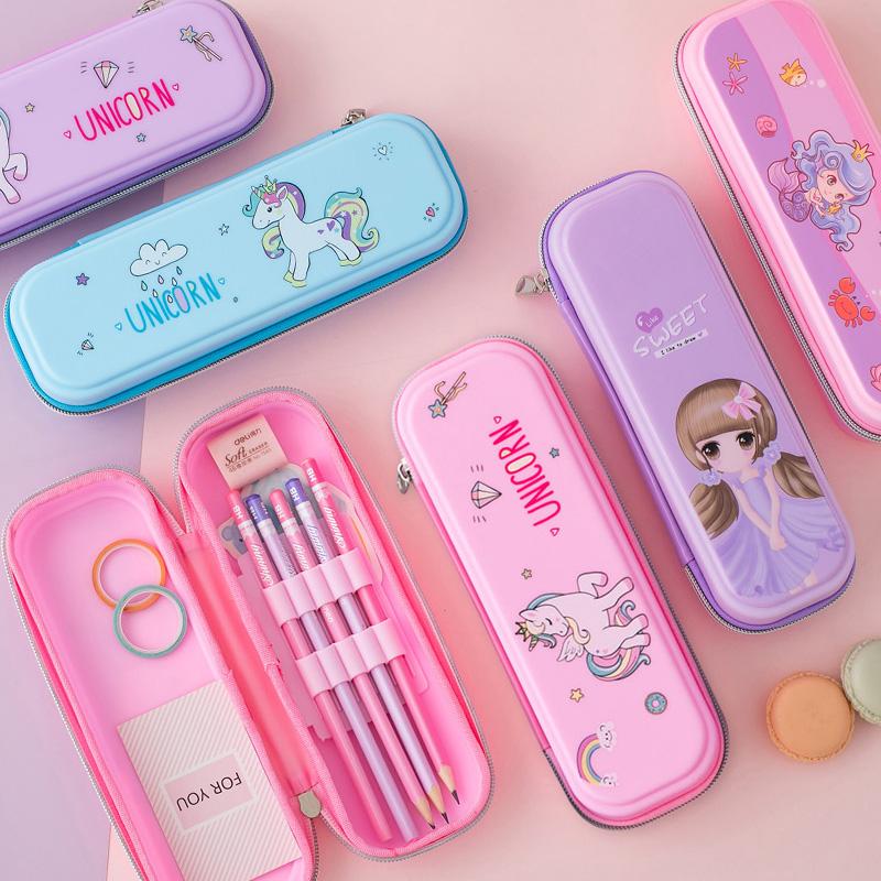 2021新款流行铅笔袋女小学生幼儿园儿童女童小女孩女生文具盒笔盒