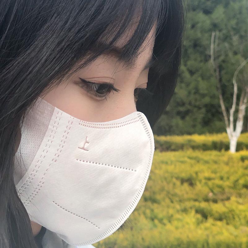 一次性3d立体口罩白色女生显脸小夏季薄款网红时尚防晒透气口鼻罩