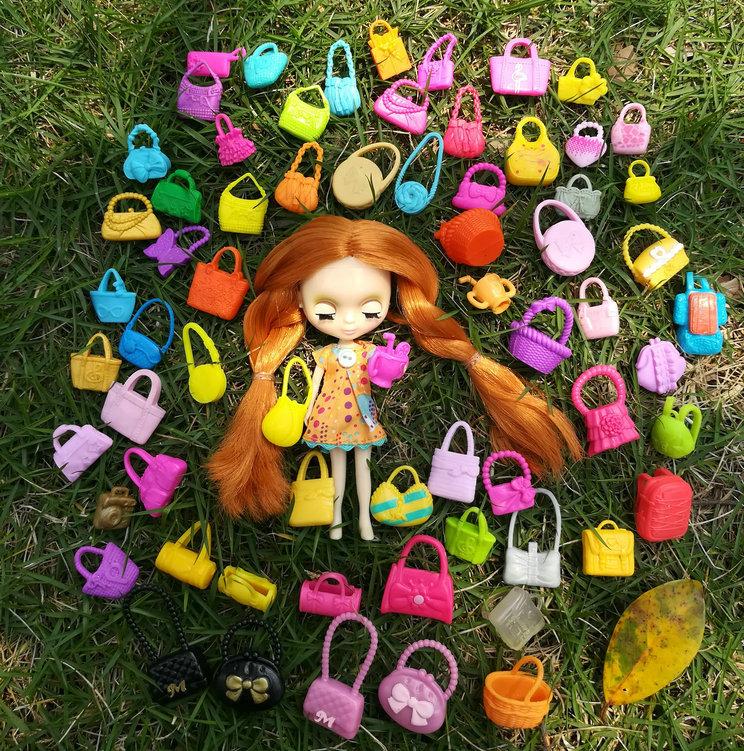 正版玩具服装配件小凯莉OB11美发娃娃Blythe迷你布适用可爱小包包
