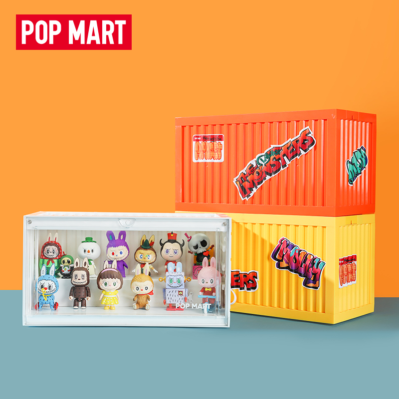 POPMART泡泡玛特 集装箱手办发光展示盒Molly娃娃手办玩具