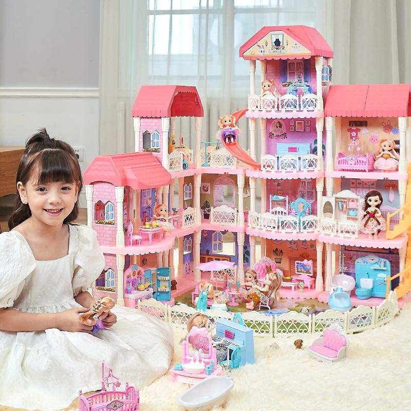 女孩过家家玩具娃娃屋公主女童大城堡别墅房子小女生儿童生日礼物