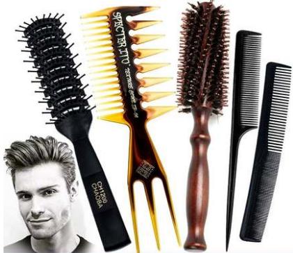 排骨梳大侧背头学生男士专用吹发型打理头发蓬松定型造型神器梳子