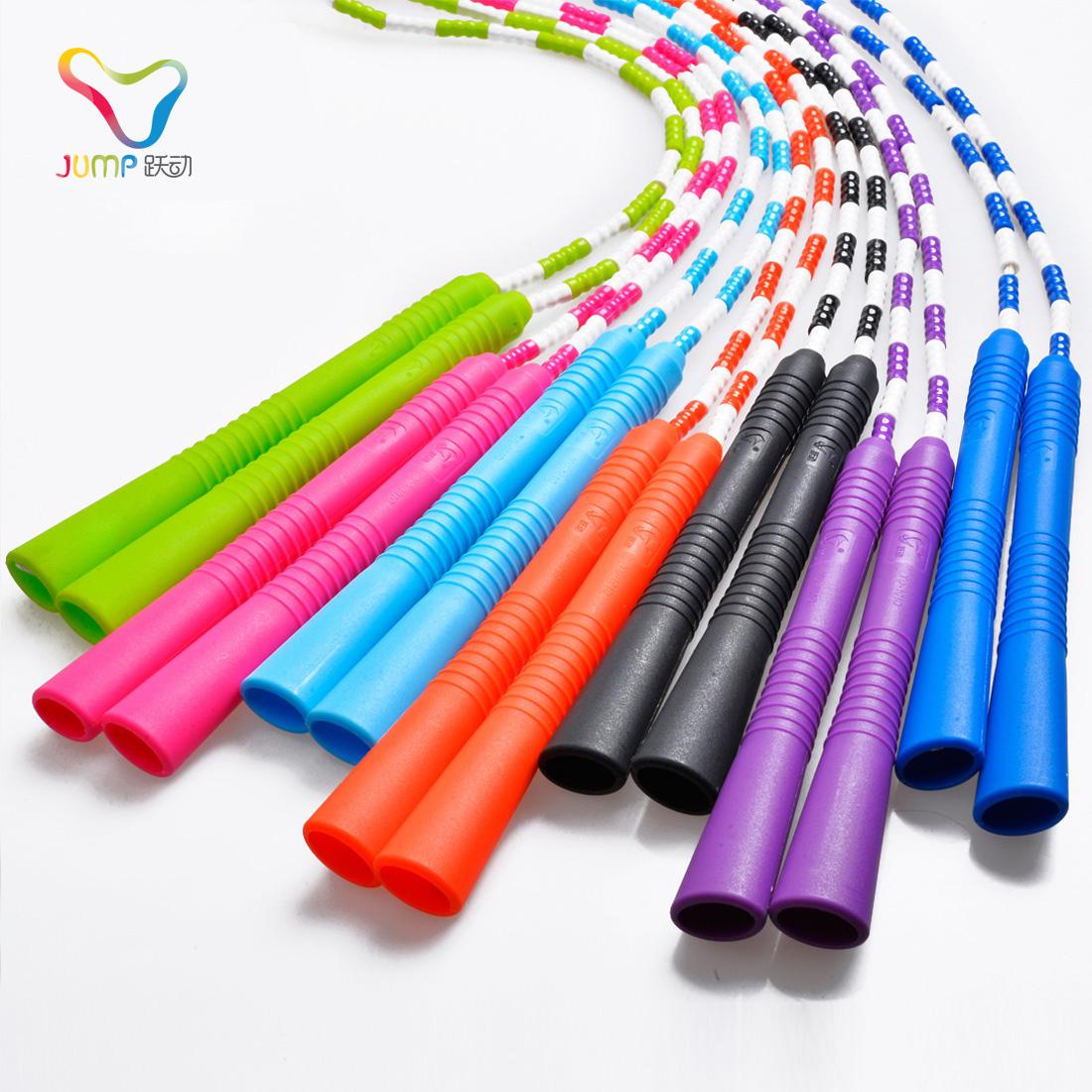 跃动成人健身减肥运动珠节跳绳 中小学生大人儿童花样竹节跳绳子