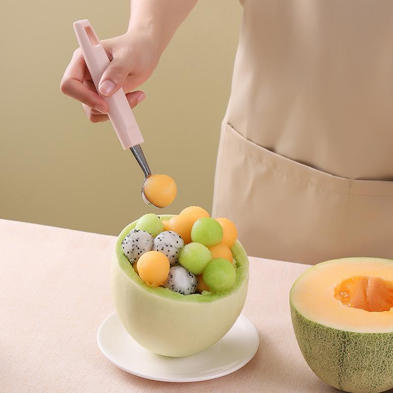 不锈钢西瓜勺子挖球器切水果工具花样分割雕花刀取肉神器挖果圆勺