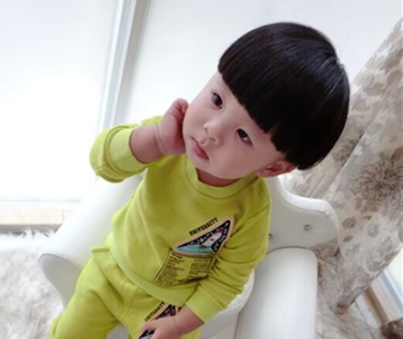 新丝路假发儿童假发小孩发套宝宝可爱香菇头蘑菇头男女孩新款发型