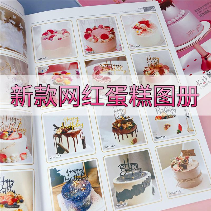 网红图册2021年新款仿真生日蛋糕图册流行欧式创意大全图片模型书