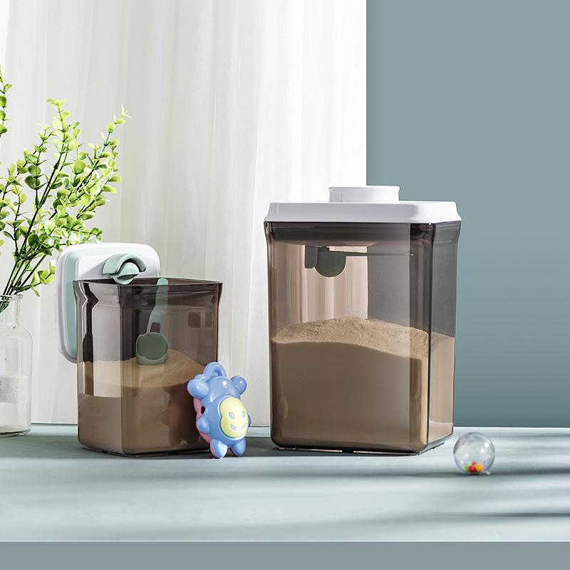 【避光】安扣奶粉罐密封罐防潮/奶粉盒便携大容量/米粉盒存储罐桶