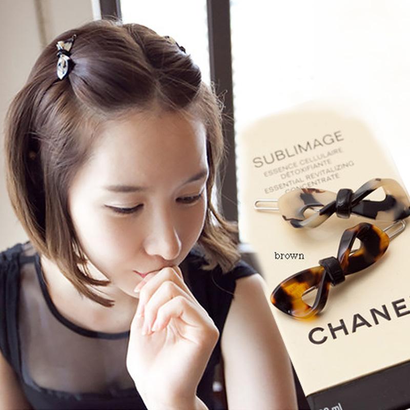 韩国夹子头饰发夹少女网红刘海小发卡边夹碎发短发侧边蝴蝶结顶夹