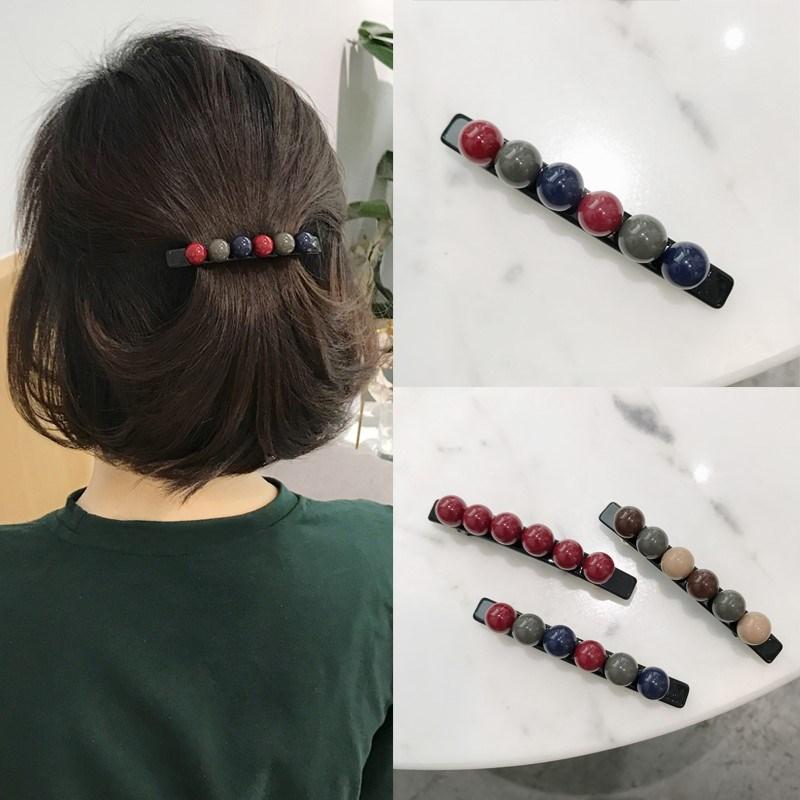 留头发尴尬期神器 短发夹子头饰少女边夹后脑勺顶夹优雅韩版