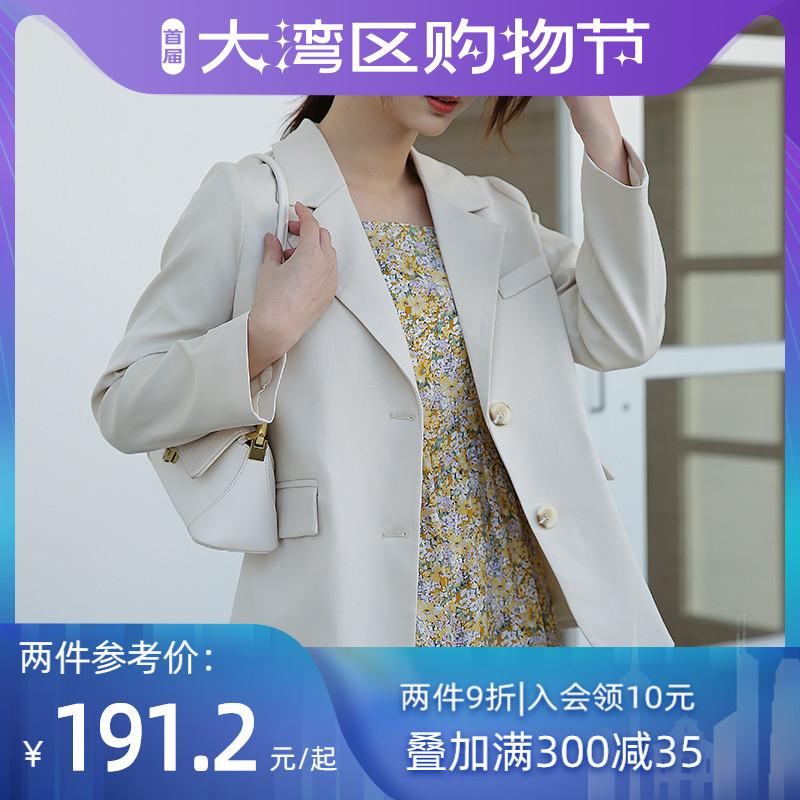小个子西装外套韩系百搭2021年春秋新款流行女装时尚气质高档西服