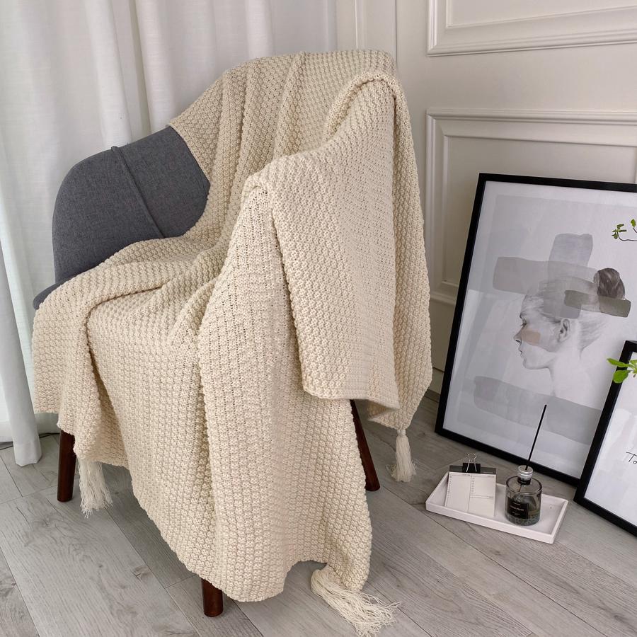 春秋ins风办公室午睡沙发毯空调毯针织小毯子披肩盖毯毛毯午睡毯