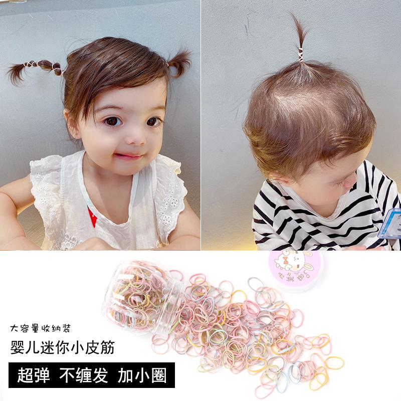 黄小妞婴儿发圈一次性不伤发女宝宝橡皮筋儿童头绳扎啾啾小圈皮筋