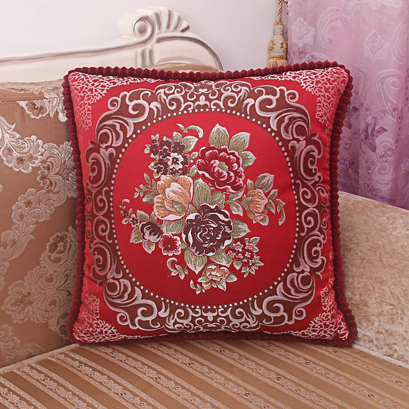 欧式奢华抱枕靠垫沙发床头靠枕办公室午睡枕汽车腰枕套含芯包邮