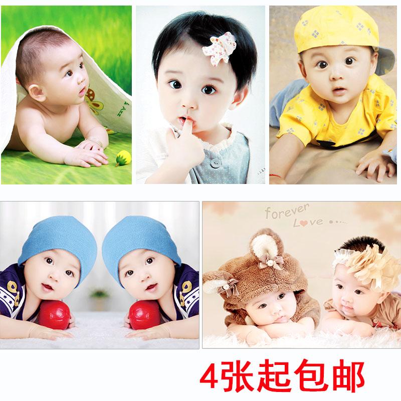 可爱宝宝海报照片漂亮男婴儿画像孕妇胎教早教图片宝宝画报墙贴画