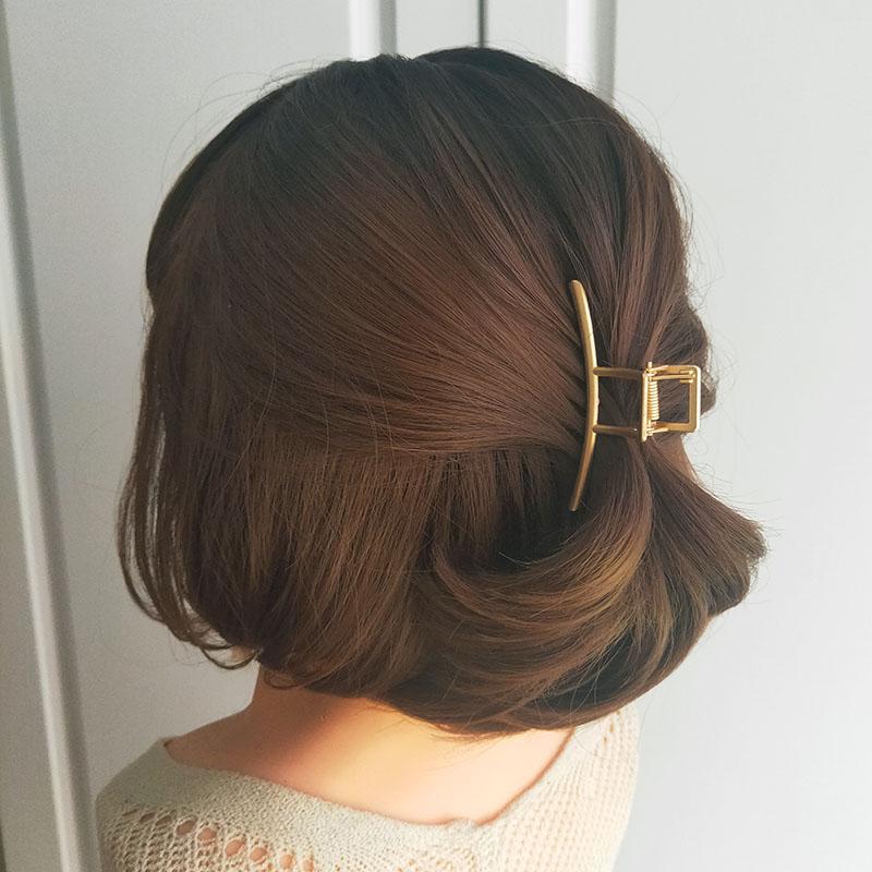 金属小号抓夹发量少夹子头饰发夹后脑勺马尾夹短发发卡中号高级感
