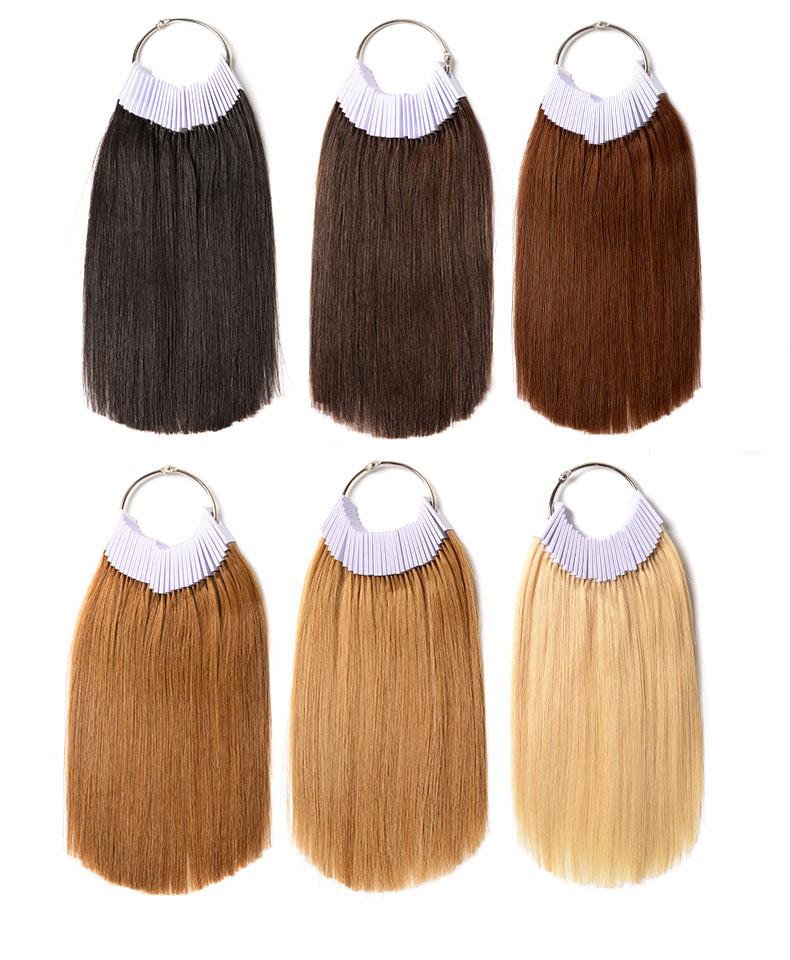 美发发条真发发束颜色实验色彩培训烫染测试色度理发店头发色板册