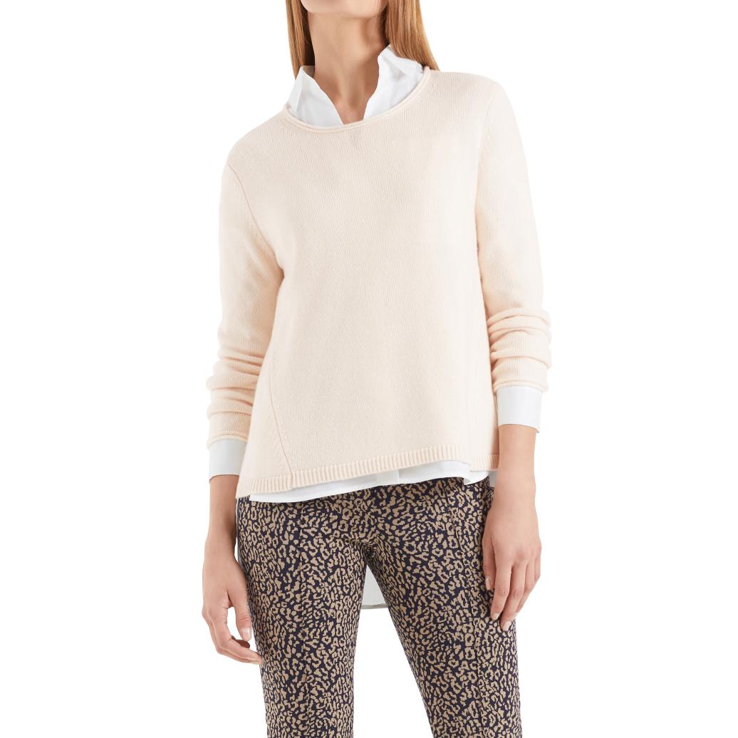 德系麦凯嗯 女款  70羊毛30羊绒混纺圆领毛衣 P022