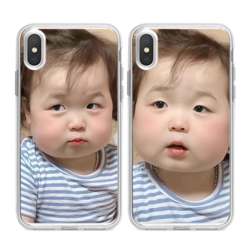 黄夏温可爱表情包同款手机壳适用苹果12华为nova8小米11vivo/oppo