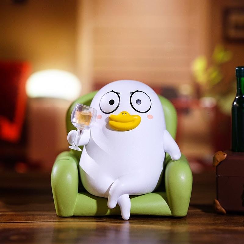 POPMART泡泡玛特小刘鸭表情包盲盒公仔潮玩摆件送儿童节礼物