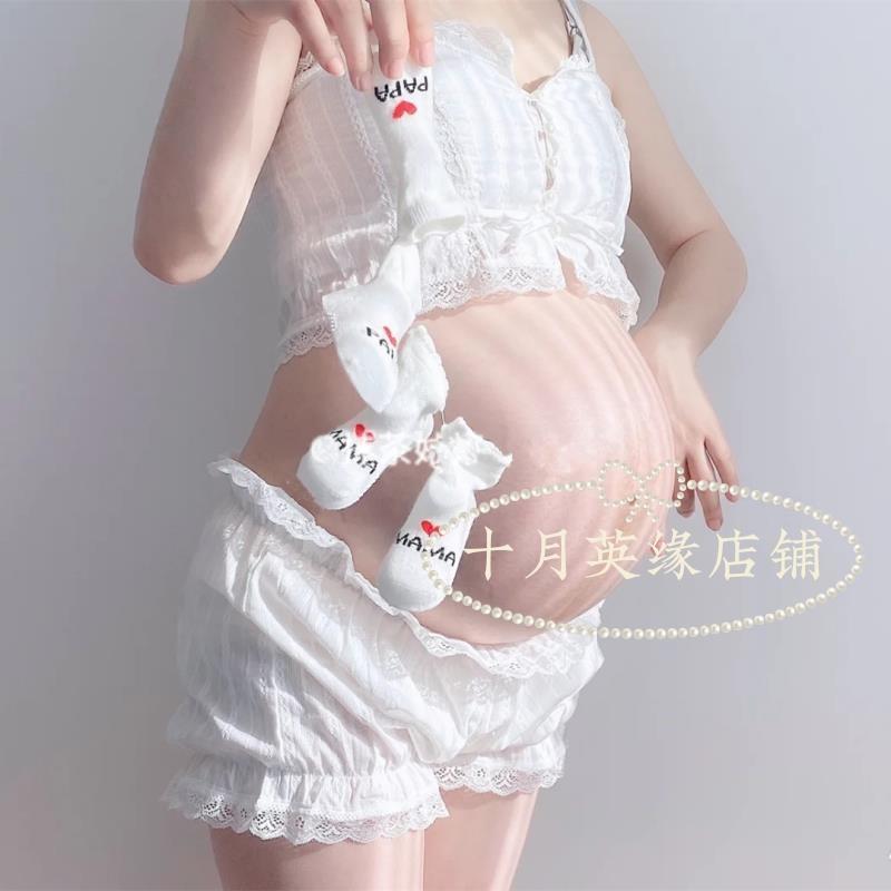 孕妇照服装新款蕾丝裙孕妇摄影服装拍照写真影楼孕妇照片写真服装
