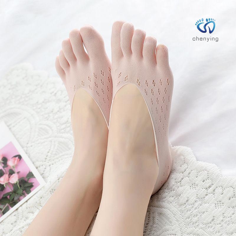 3/5双五指袜子女夏薄款浅口船袜分脚趾丝袜防滑吸汗隐形袜短袜