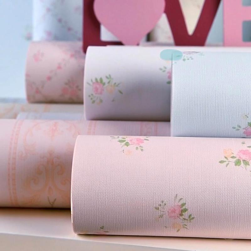 田园小碎花自粘壁纸卧室温馨粉色女孩家用翻新贴学生宿舍防水墙纸