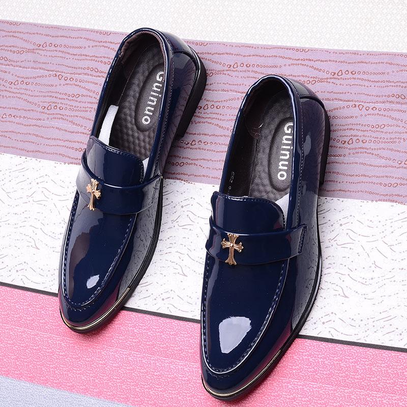 春夏季新款男生青年皮鞋男韩版潮鞋英伦商务休闲男鞋子增高发型师