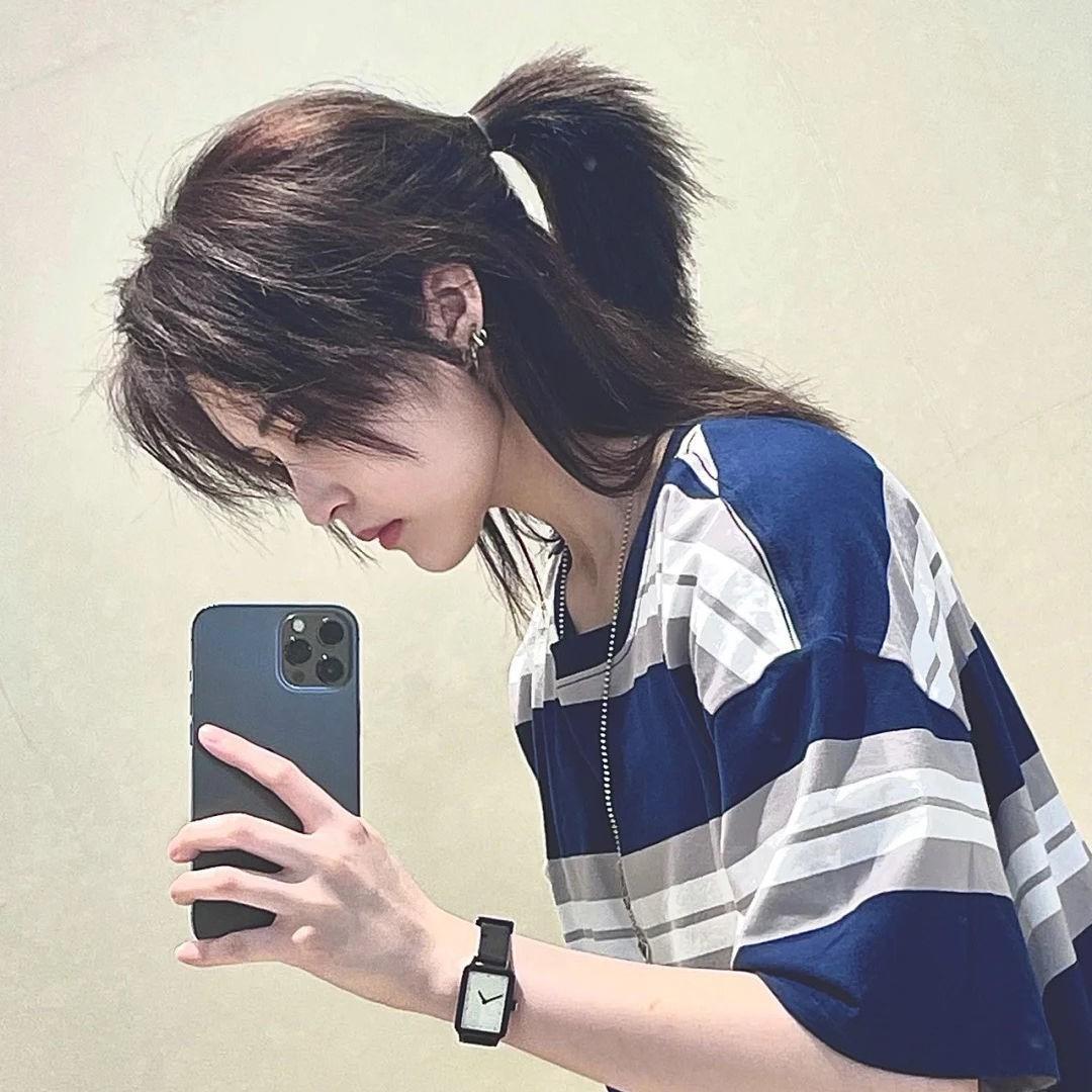 武士头假发男日系帅气短直发可扎发型狼尾长发鲻鱼头自然全头套式