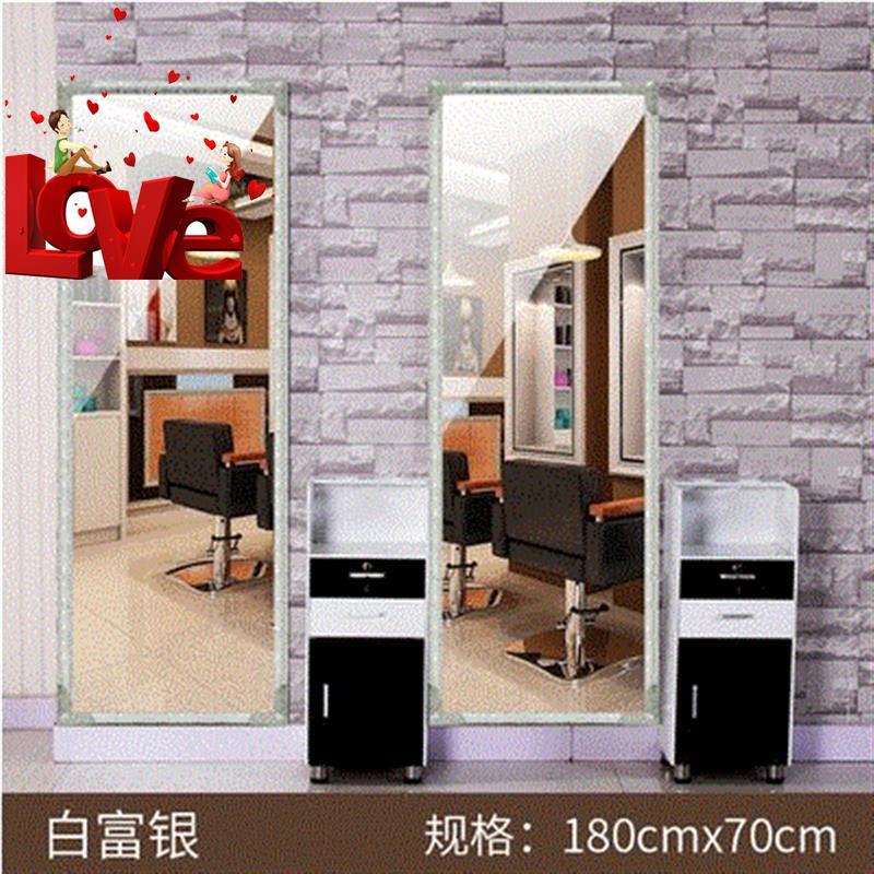 染稳固材质理发店镜家装修风格镜框美式试衣式镜台发廊好壁p挂。