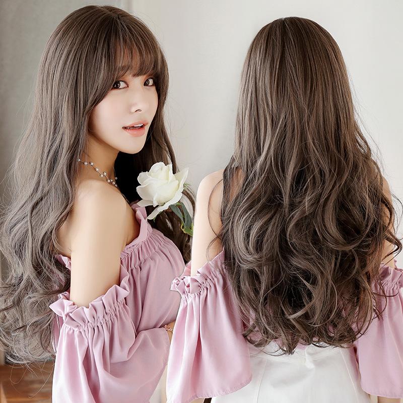 假发女长发套头长卷发大波浪蓬松自然网红可爱逼真微卷全头中长发