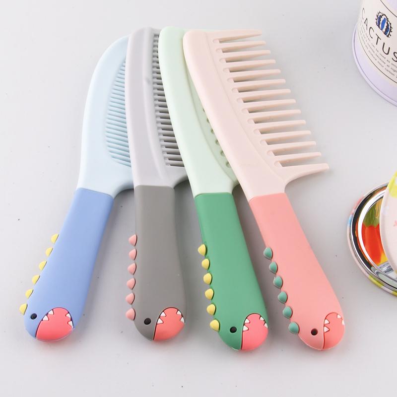 梳子女便携大齿随身可爱美发梳少女心梳头中齿细齿女士长发专用