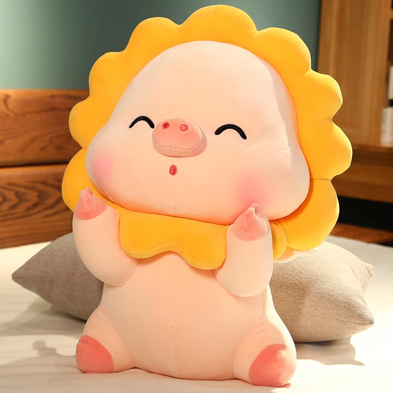 猪猪毛绒玩具小猪公仔睡觉抱枕生日礼物女生大玩偶超软布娃娃床上