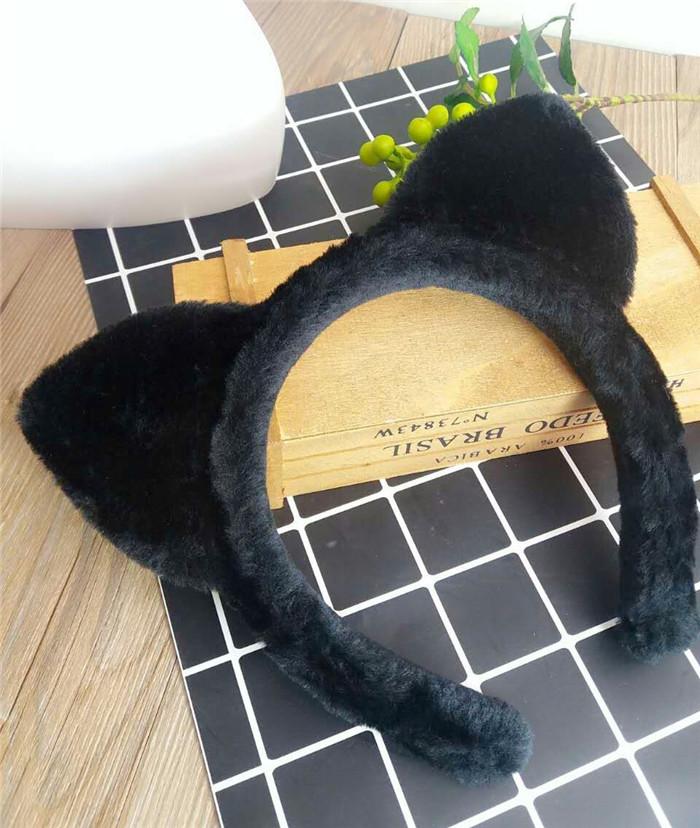 新小s同款猫耳朵发箍可爱猫咪短发发饰宽边头箍洗脸发带刘海发卡