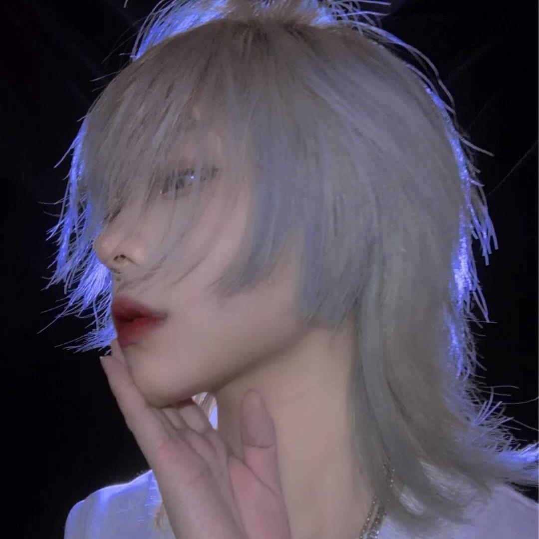 复古鲻鱼头假发男女韩版帅气中性短发网红时尚全头套式男士f4发型