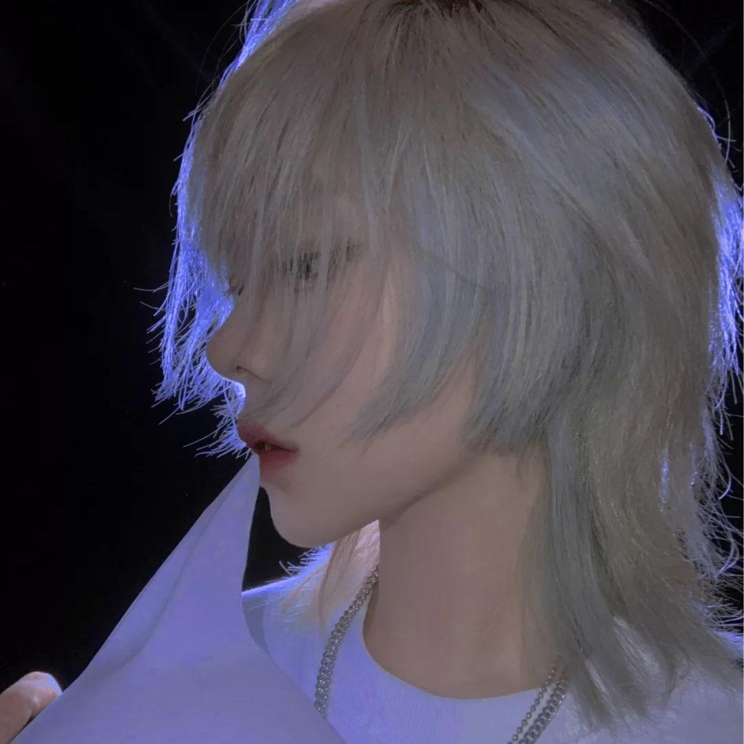 假发男短发网红同款鲻鱼头韩版帅气男士狼尾头发型男女通用全头套