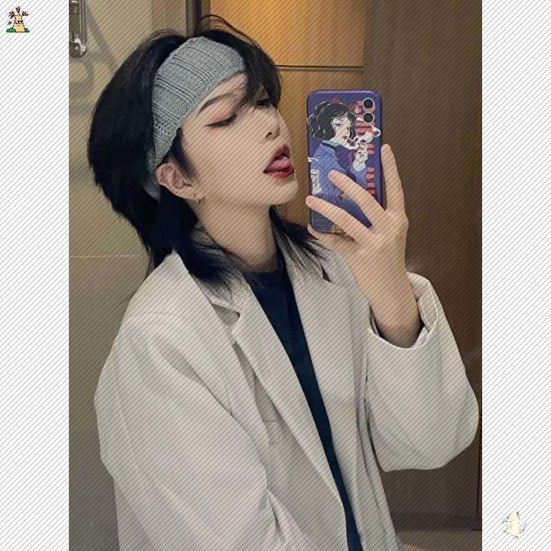 鲻鱼头短发假发女帅气韩版中性帅气男女狼尾头发型蓬松自然全头套