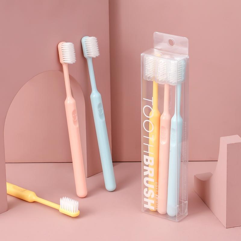 超软超细牙刷软毛成人家用女士可爱小头女生学生家庭装软牙刷套装