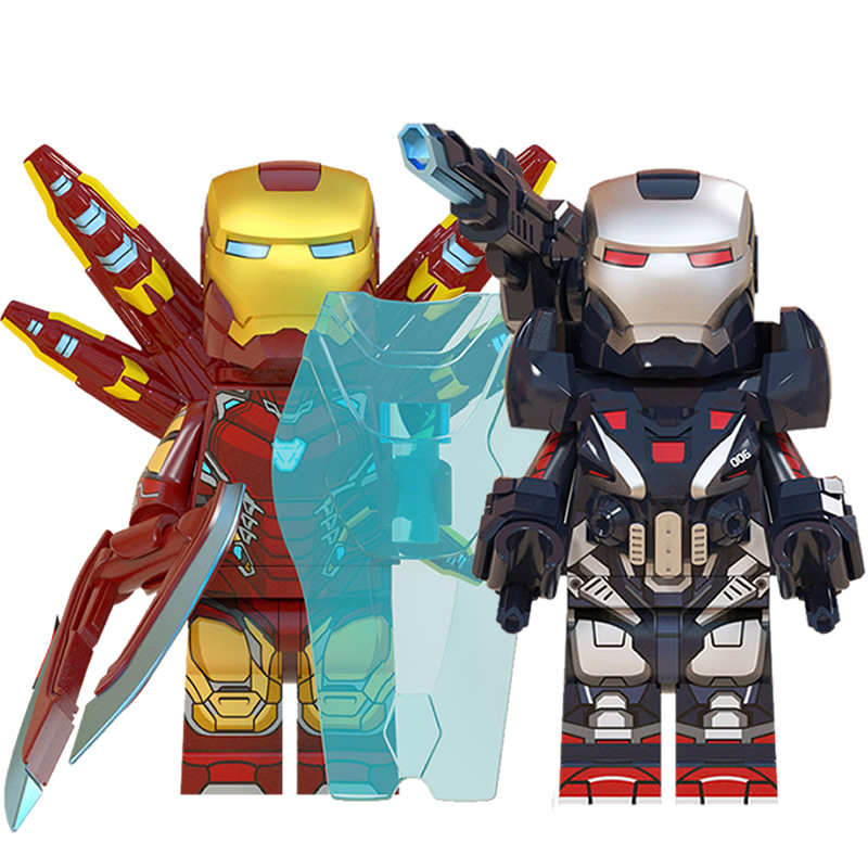 复仇者联盟钢铁侠反浩克机甲MK85托尼斯塔克积木拼装玩具乐高人仔