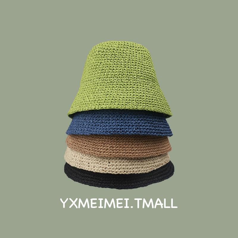 版型chao好立体水桶帽型禁欲修脸型水桶渔夫帽女夏季韩版手工草帽