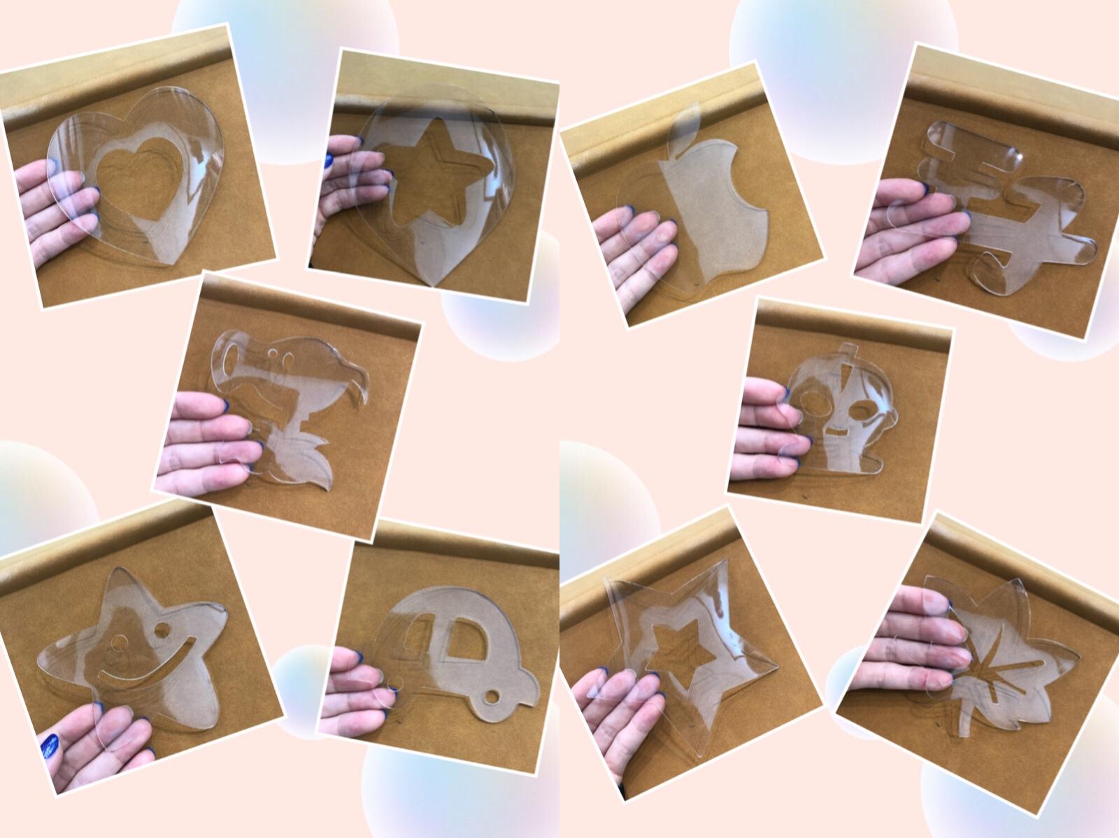 儿童理发模具原创设计图案发型雕刻造型辅助模具可以多次反复使用