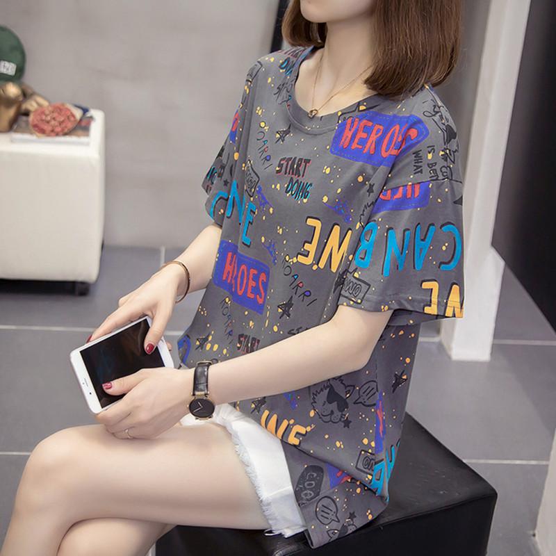 短袖女2021年新款夏装微胖加肥加大码洋气上衣显瘦韩版减龄t恤潮