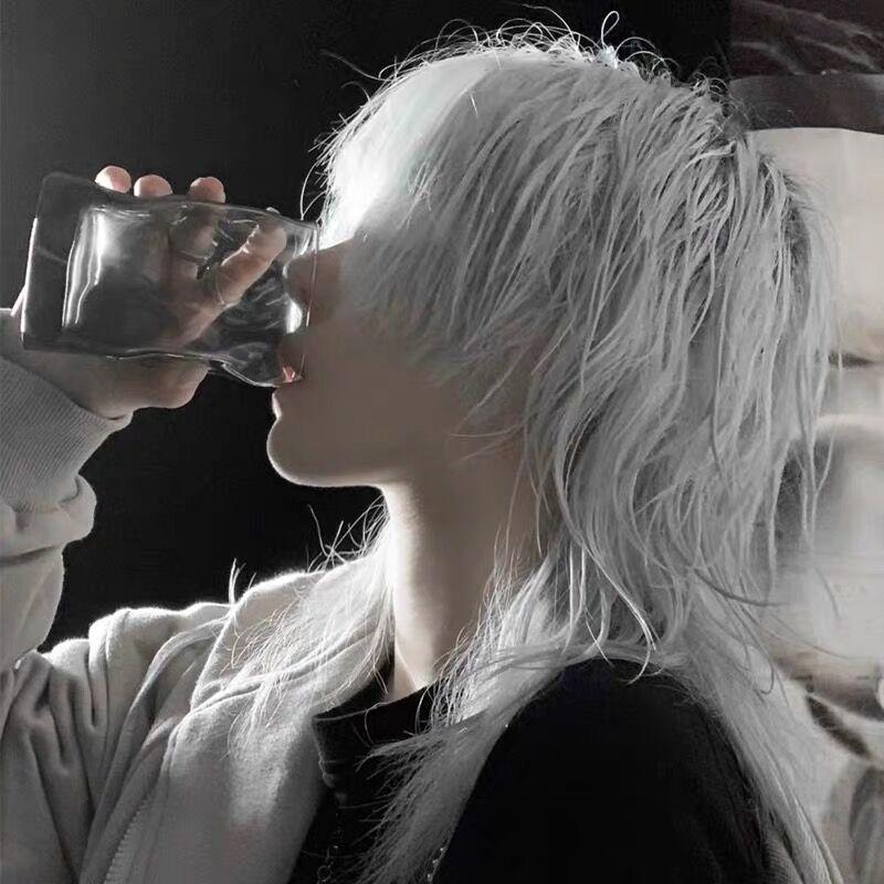 假发女短发鲻鱼头韩版帅气男士狼尾头发型蓬松自然男女万用全头套