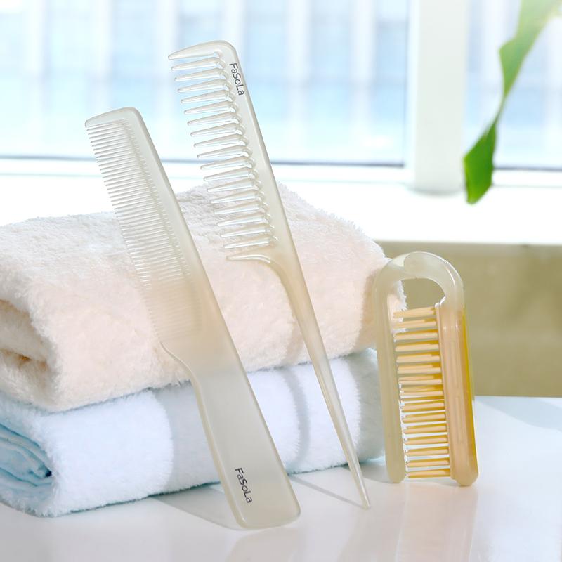 日本刘海梳子折叠便携随身尖尾女士专用长发加密小梳子短发造型梳